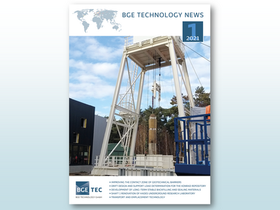 Cover der BGE TEC Newsletter 01/2021